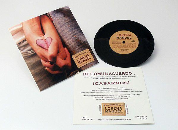 Invitaciones de boda en CD y DVD originales