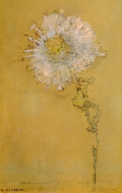 Piet Mondrian, Chrysanthemum, 1909.Botanical Flower, Arty Farty, Yellow Art, Piet Mondrian, Chrysanthemums, Thinking To Drawing, Piet Mondrian, Dandelions Watercolors, Yellow Painting