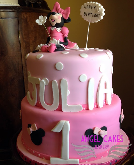 Angel Cakes Bakery: Minnie Mouse 1st Birthday Cake