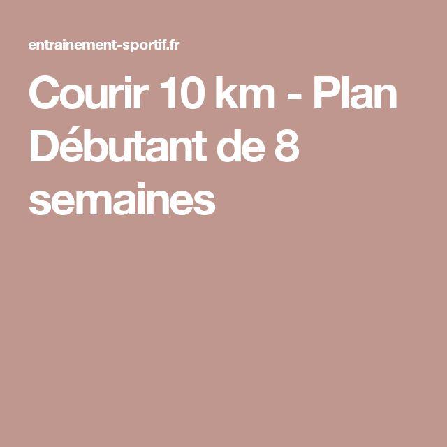 Courir 10 km - Plan Débutant de 8 semaines