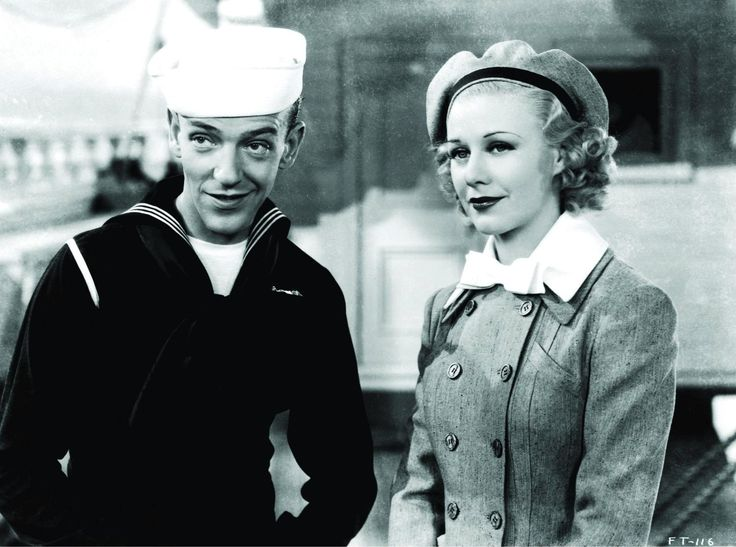 Still of Fred Astaire and Ginger Rogers in Follow the Fleet (1936)