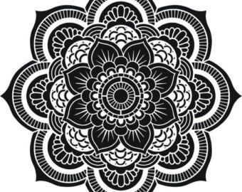 Decorative Mandala Design Stencil or Ceiling by CreativeStencils