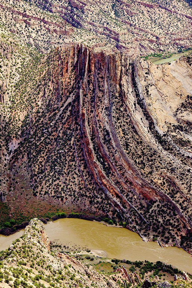 Cool geology alert! Green River rafting through the Gates of Lodore   Photo: Alex Komarnitsky