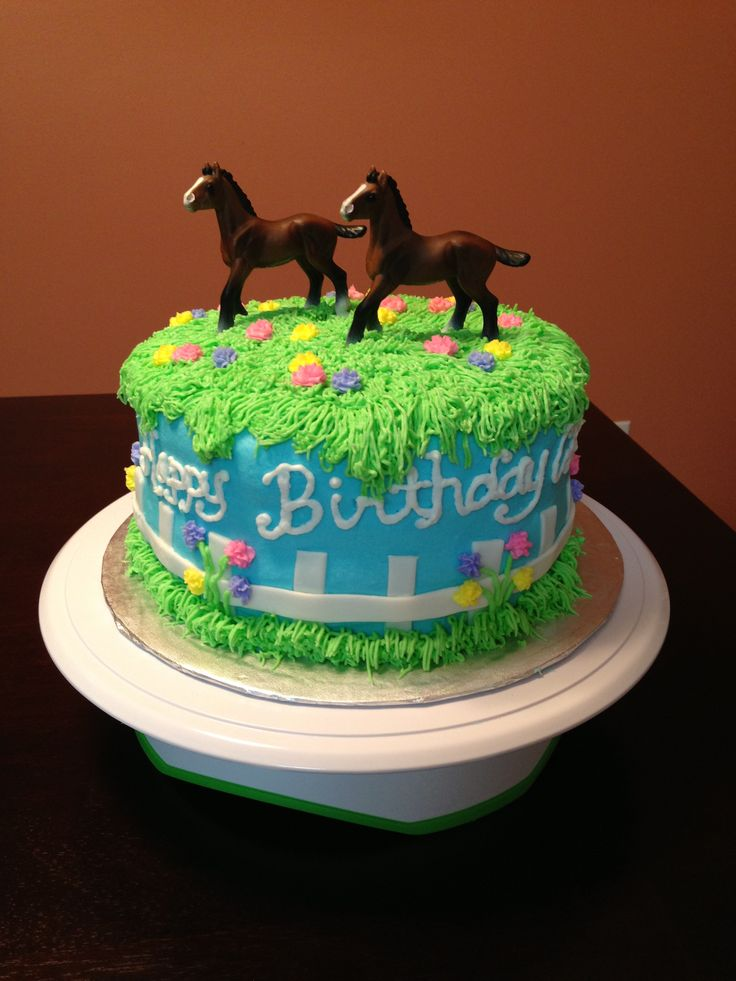 Birthday Cake Decorations Horses : 25+ best ideas about Horse birthday cakes on Pinterest ...