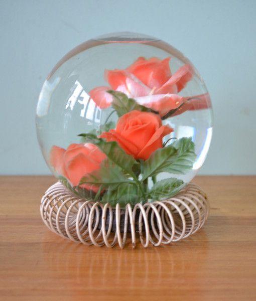 Vintage Glass Rosarium Terrarium Made in France Mid century