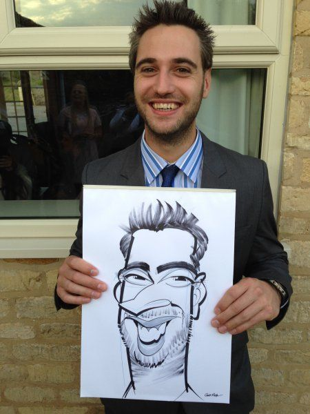 Wedding caricatures at Toft in Lincoln, drawn by Spot On George