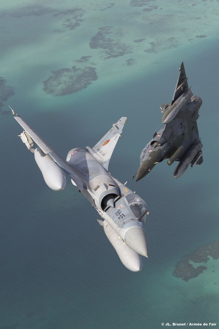 French Air Force Dassault Mirage 2000C and Mirage 2000N