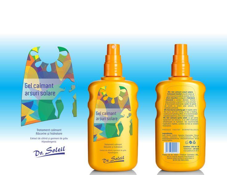 Dr Soleil - cosmetics (design - Victor Calomfir) Soothing gel - sun burns