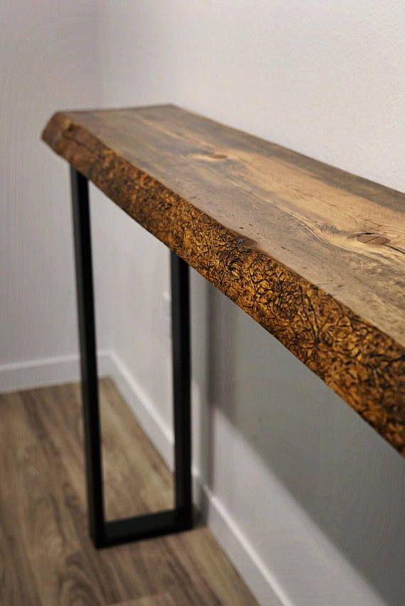 Live Edge Console Table Sofa Table Entry Hall Table Bar Live Edge Console Table Live Edge Table Wood Slab