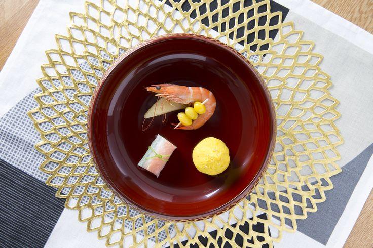 お正月のおもてなしのひと皿。  Fudanシリーズ_きょうかはち銀朱色   http://j-cocomo.jp