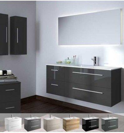 Mueble de ba o de madera conjunto de ba o incluye mueble for Muebles para bano gris