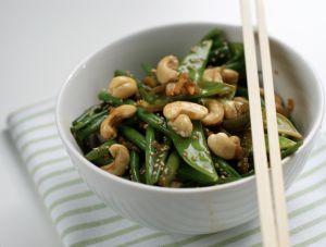Grønn bønne-wok med cashewnøtter   Fraiva