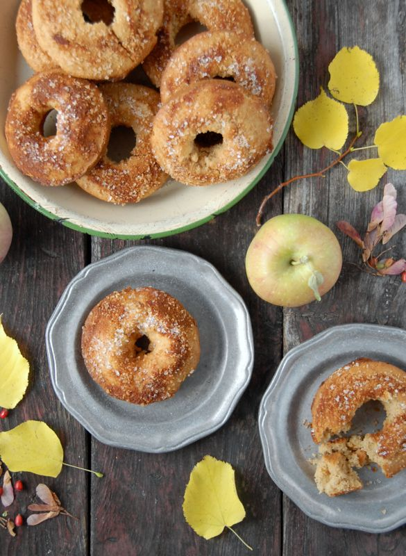 The taste of fall is here in these Baked Apple Cider Donuts, light, cakey, and gluten free.