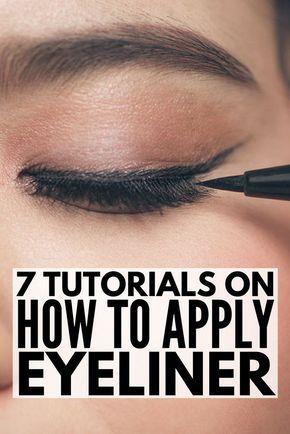 how to put liquid eyeliner on bottom