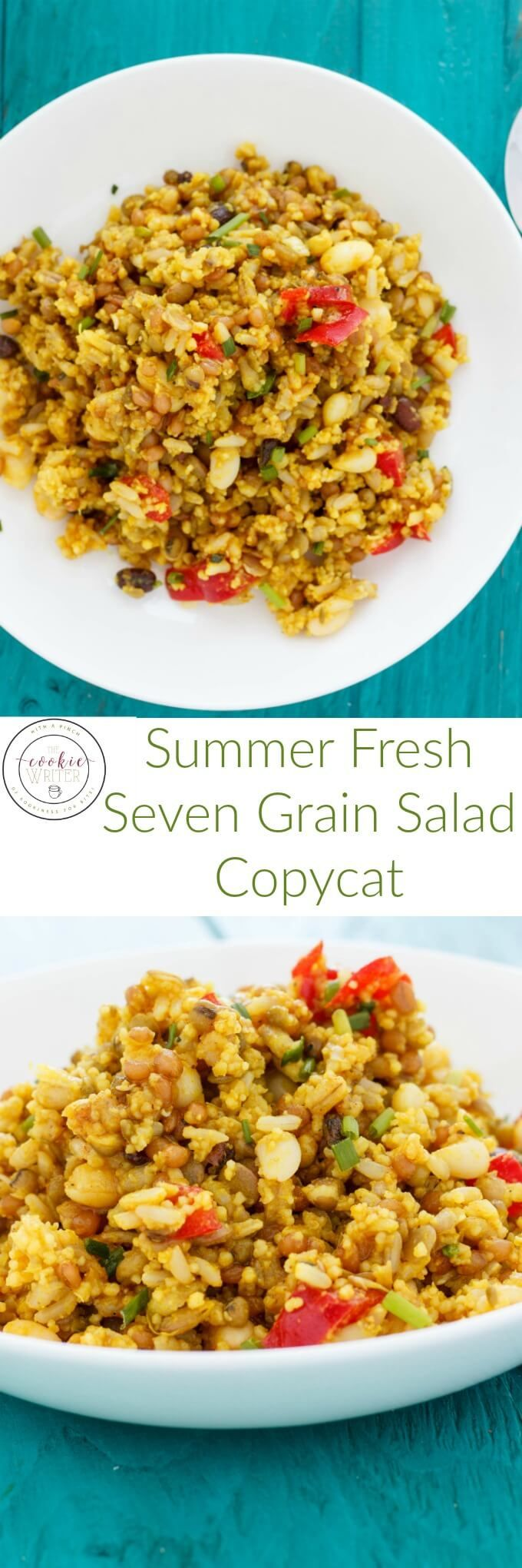 Summer Fresh Seven Grain Salad Copycat Recipe | http://thecookiewriter.com | @thecookiewriter | #salad | A copycat version of the awesome salad from Summer Fresh! Vegan and healthy!