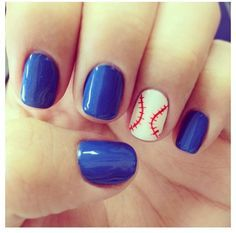 baseball nail art - Google Search