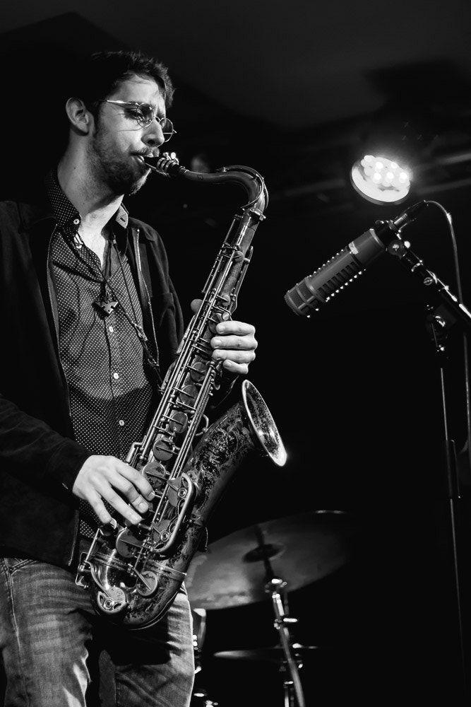 All That Jazz - Moritz Stahl auf der Jam Session im Jazzclub Unterfahrt in München.