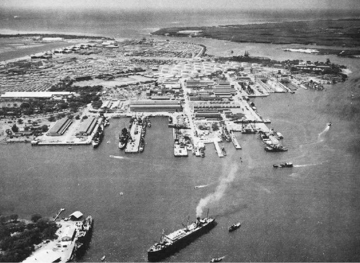 Shipyard Repair Basins at Pearl Harbor, Hawaii. Oct 13, 1941. (US Navy photo)