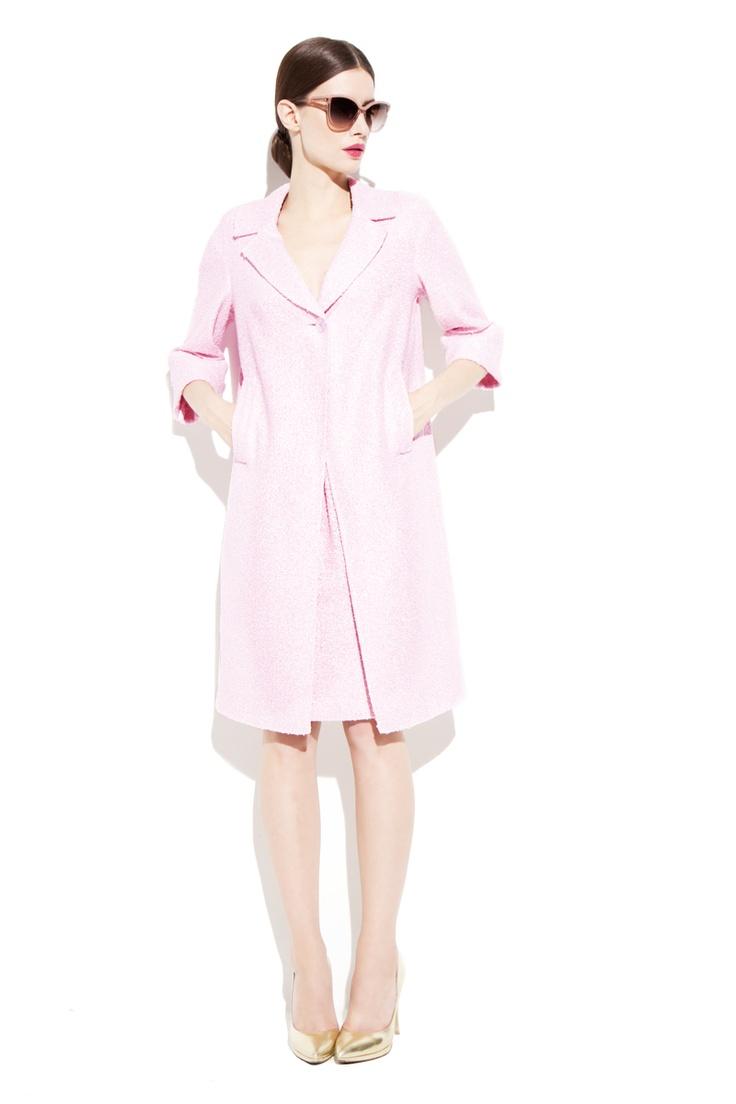 Rosie Pink Lurex Coat