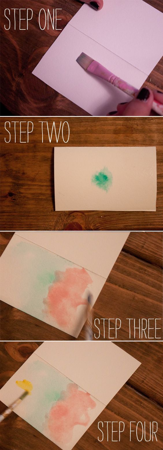 DIY watercolor cards - loving this easy technique lately: