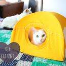 I kept seeing photos of cat tents on Pinterest and being shared on Facebook, but none of them had good instructions! I decided to make a cat tent for Luna ...