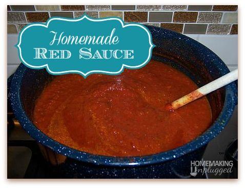 Homemade Red Pasta Sauce