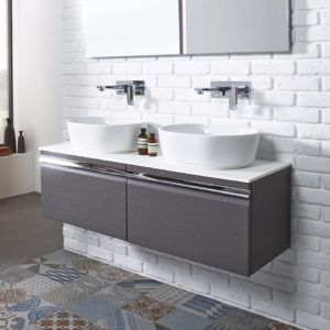 Double Sink Vanity Unit Bathroom