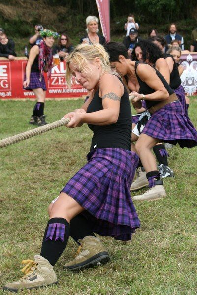 lassie's in purple kilts highland games