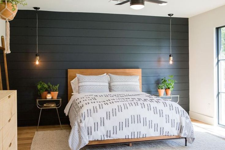 Image result for shiplap walls dark trim