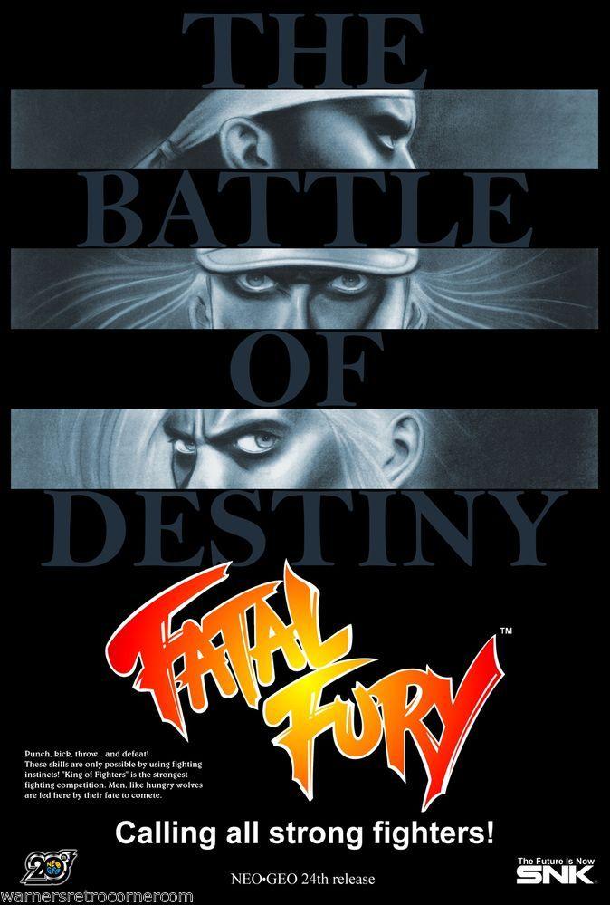 A3 retro Reproduction Video Game Neo geo Replica PRINT Poster  Fatal Fury