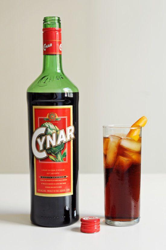 vintage cynar bottle