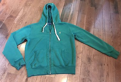 Men-039-s-Polo-Ralph-Lauren-Hoodie-Full-zip-Jacket-Green-Yellow-Pony-Logo-M