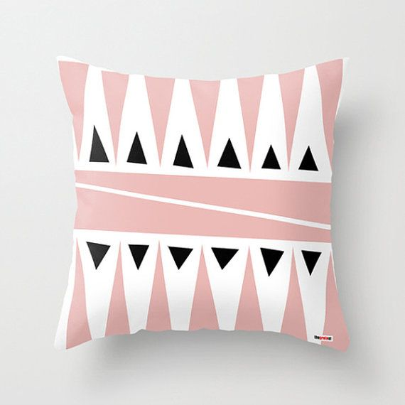 Pink Decorative throw pillow cover - Pillows for couch. Modern Home decor - Modern pillow cover - Toss Pillow covers , teal throw on Etsy, $55.00