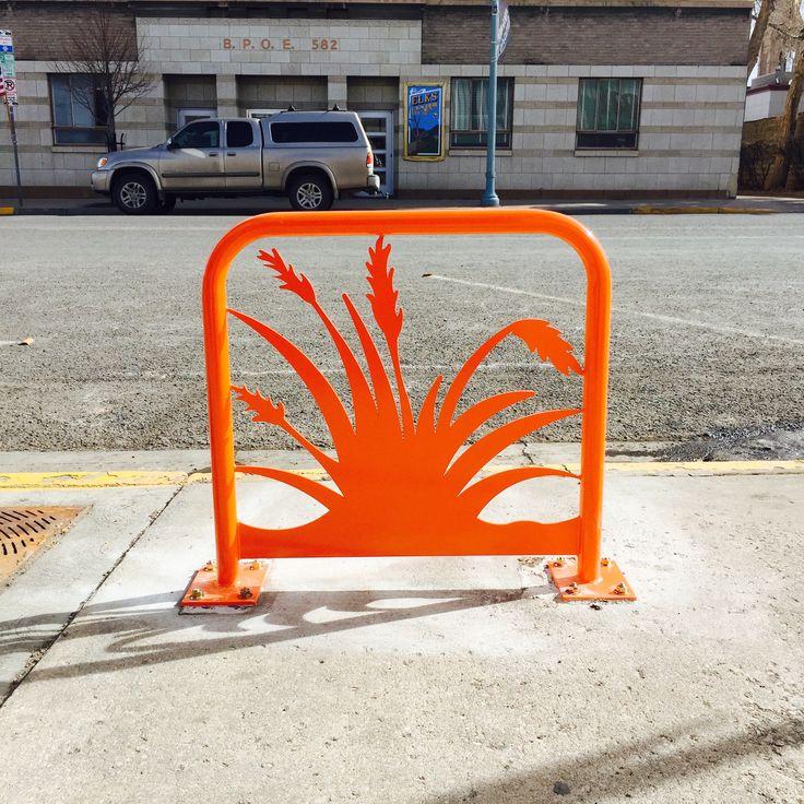 Hey Bike Rack designed by Meg Thompson for Laramie Main Street Alliance.  #megthompsonstudios #downtownlaramie