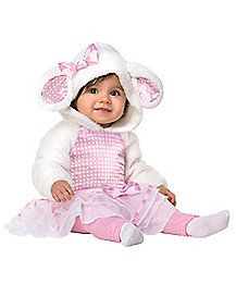 Little Pink Lamb Baby Costume - Cuddly, cute and ready for Halloween your baby will look adorable in the Little Pink Lamb Baby Costume.