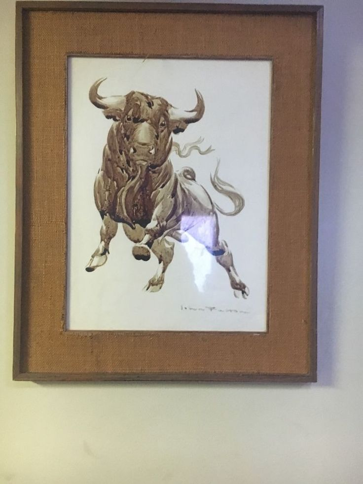 Original painting done in bulls blood done by John Fulton