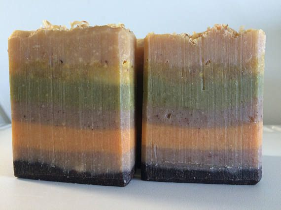 Coffee & Cinnamon hand made soap with Vanilla Almond