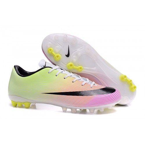 Nike Mercurial Victory V TF-AG zapatos de fútbol para hombre - amarillo rosa blanco