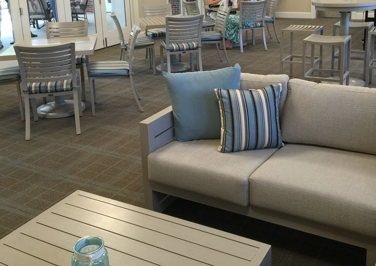 Colonial Country Club in Fort Worth, Texas #patiofurniture #patio #outdoors #indoors #sofa #cushions