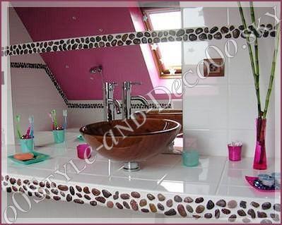 17 best images about frise en galets salle de bain on pinterest frances o 39 connor stone. Black Bedroom Furniture Sets. Home Design Ideas