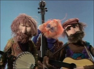The Country Trio  Jim Henson Muppet, Franz Oz Muppet and Jerry Nelson Muppet