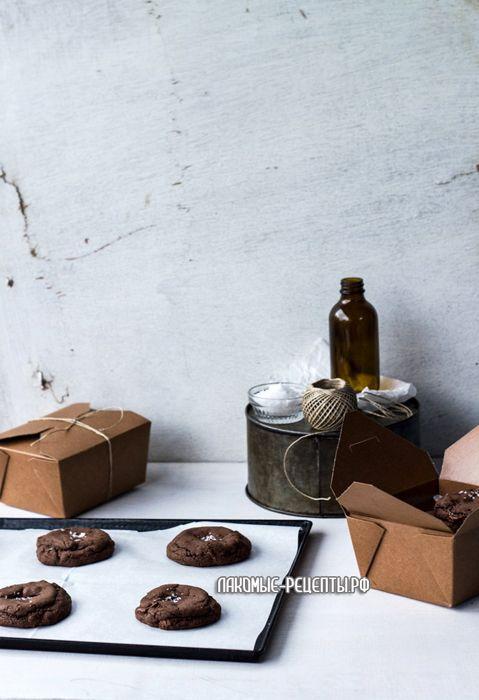 Печенье с начинкой из Нутеллы и соленой карамели