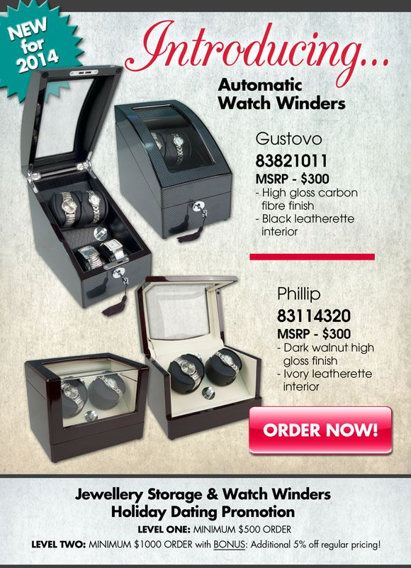 Our two new watch winders for 2014: Gustovo and Phillip! Learn more here: http://goo.gl/ukfxYn
