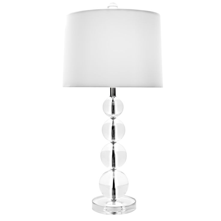 Gordmans Table Lamps: Stacked Crystal Ball Table Lamp and Shade, 26