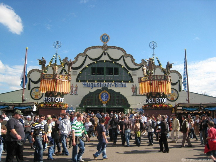 Augustiner Tent, Oktoberfest -- Went here in 2012! Best tent of them all