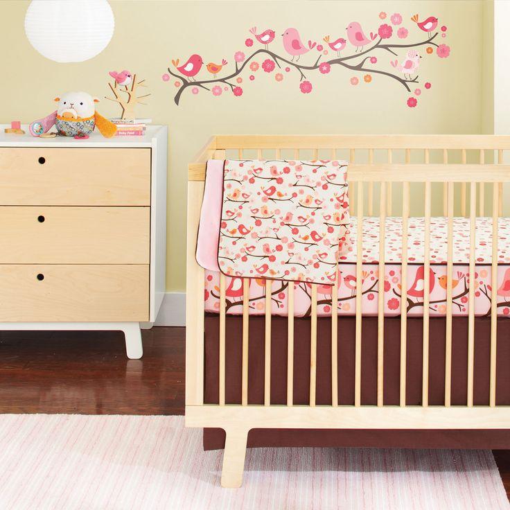 Skip Hop Springtime Birdie Complete Sheet® bumper-free crib bedding