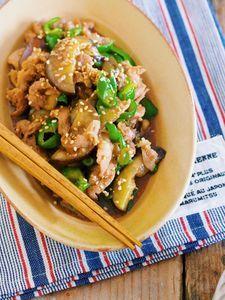3step&調味料オール1♪『豚こまとなすの青椒肉絲』 by Yuu*(大田優) | レシピサイト「Nadia | ナディア」プロの料理を無料で検索