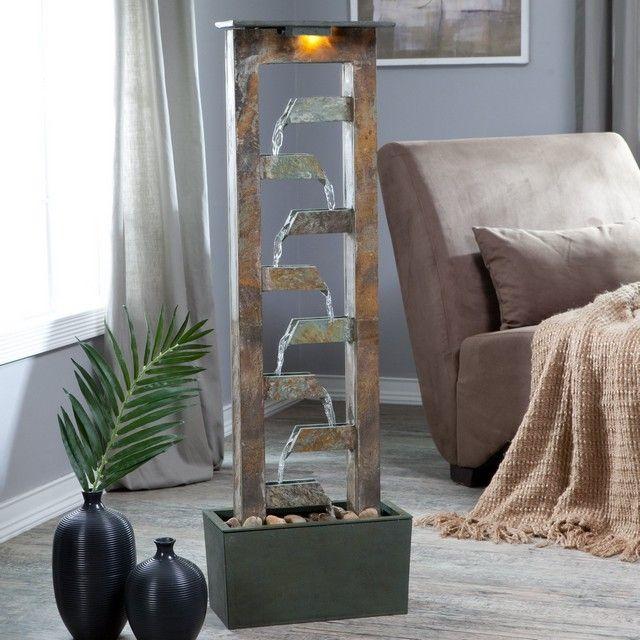 zimmerbrunnen modern ideen feng-shui Schlafzimmer Naturstein-Gestaltung ideen
