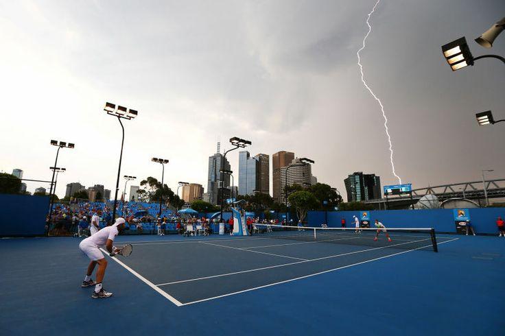 Best, Australian, Open, Hitzefrei, Tennisspieler, Malerischer, Blitzschlag:, Tagen, Wolke, Himmel