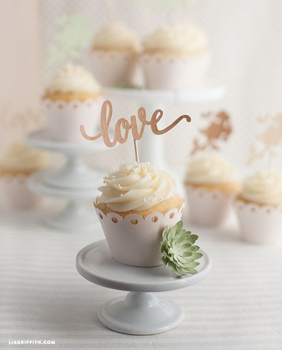 DIY Wedding Cake and Cupcake Topper